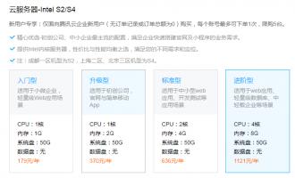 腾讯云企业普惠上云活动优惠至2.5折起,32核64G高配10089元/年起,这活动挺香